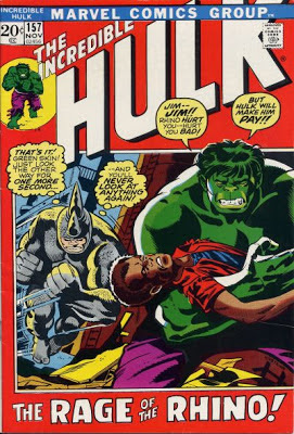 Incredible Hulk 157, the Rhino