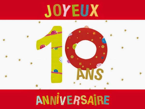 anniversaire de mariage 10 ans
