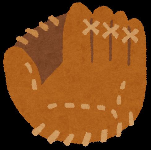 無料 お正月テンプレート無料 : 野球で使うグローブのイラスト ...