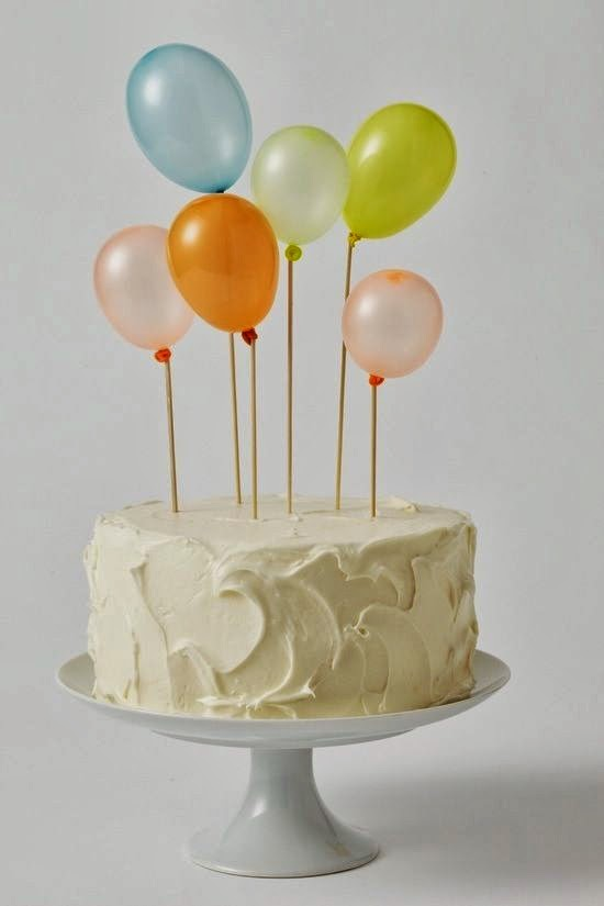 Tarta con globos