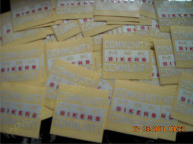 Pengerjaan sticker Club Motor ( M 8 K Bikers Community)