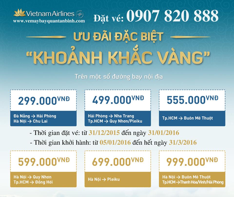 Khuyen mai dac biet cua Vietnam Airlines Khoanh khac vang