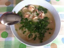 Vietnamese rice soup