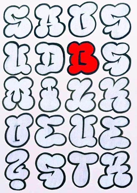 Graffiti alphabet best graffitianz - Graffiti alphabet bubble ...