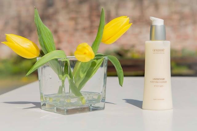 Ananné Geischtspflege und gelbe Tulpen