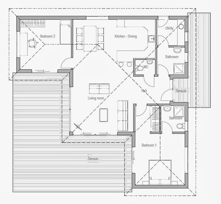 Affordable small house plans small house plan ch63 in for Affordable cabin plans