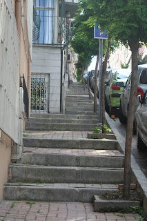 Hill of steps.
