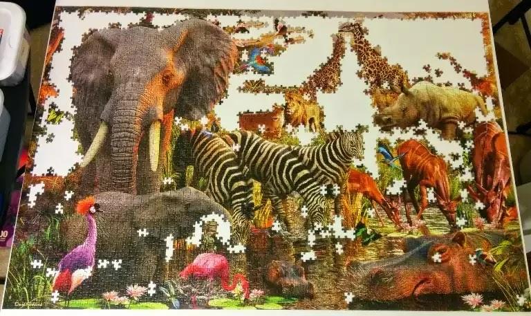 Ravensburger African Animals 3000 piece jigsaw puzzle