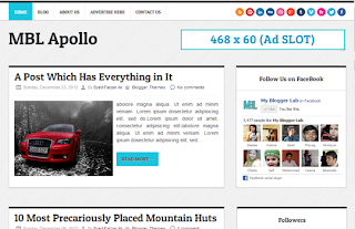 Apollo es una plantilla blogger adaptación de WordPress