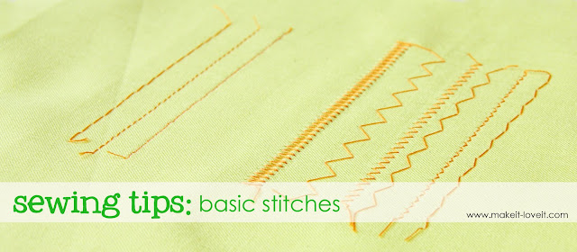 sewing tips basic stitches