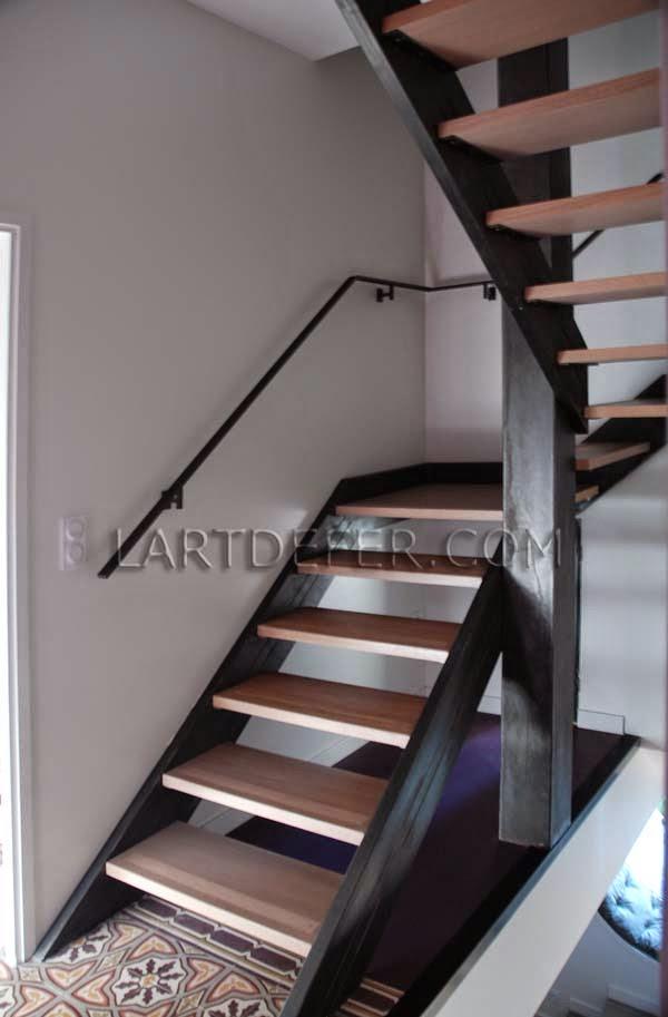 L 39 art de fer 3 escaliers dans une m me maison - Escalier bois et fer ...
