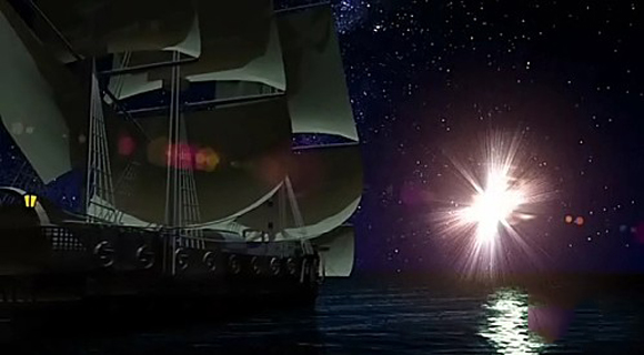 Extraños fenómenos luminosos visto por Cristobal colon en el triangulo de las Bermudas