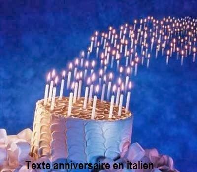Texte Anniversaire En Italien Texte Anniversaire Sms Anniversaire