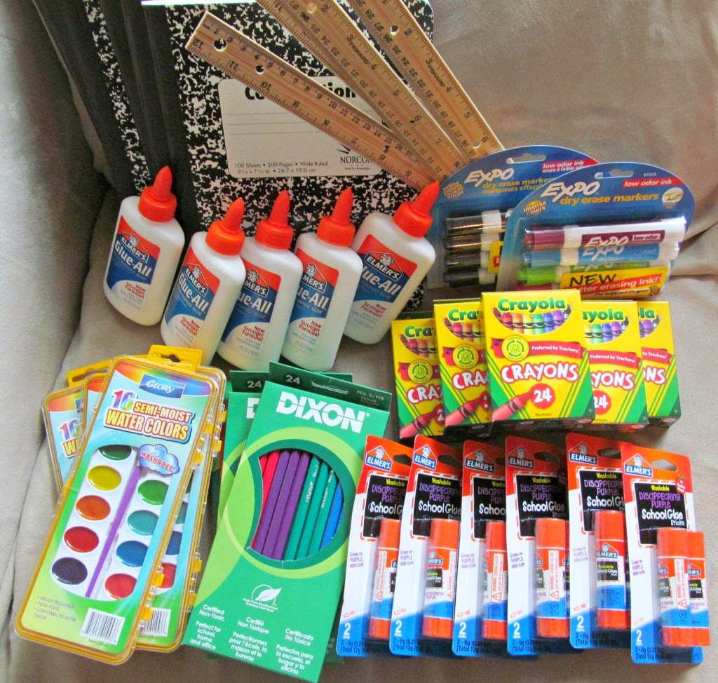 Donate School Supplies from Jade Louise Designs