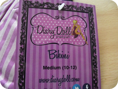 Diary doll period pants label