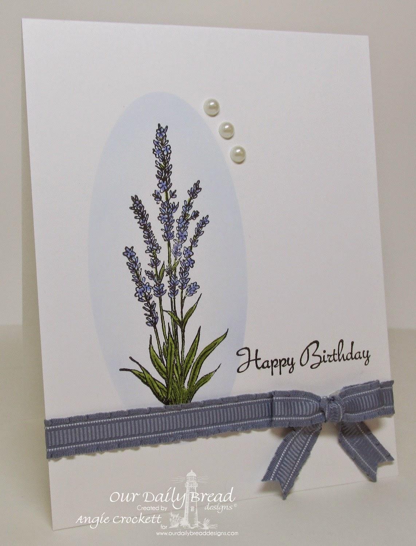 ODBD Lavender, Smell the Roses, Card Designer Angie Crockett
