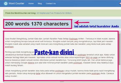 Cara Hitung Kata dan Karakter Pada Setiap Artikel