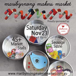 Visit me at the Maribyrnong Makers Market!
