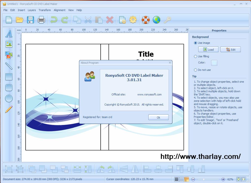 RonyaSoft CD DVD Label Maker 3.2.11 serial keygen download