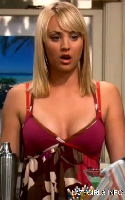 kaley cuoco cleavage