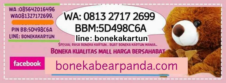 toko boneka lucu online jual harga murah panda beruang bear hello kitty doraemon keroppi besar
