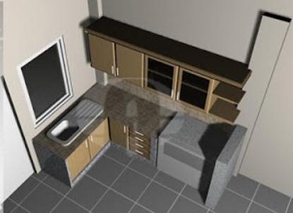 Minimalis kita dengan membuat dapur dan ruang makan pada satu ruangan