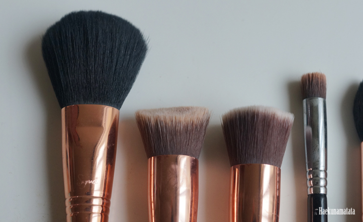 Sigma Brushes: F30 Large Powder Brush, 3DHD Kabuki Brush, F80 Flat Kabuki Brush, P80 Precision Flat