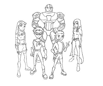 #3 Cyborg Coloring Page