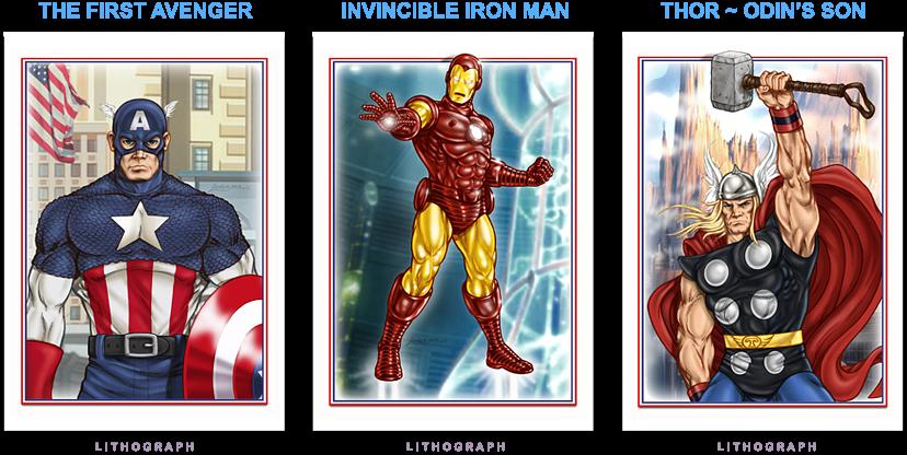 Cap - Iron Man - Thor