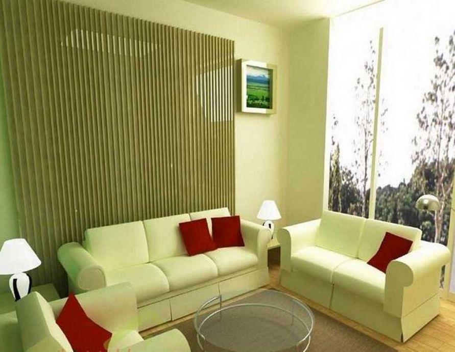 inspirasi cat hijau muda ruang tamu