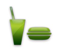 burger and soda icon