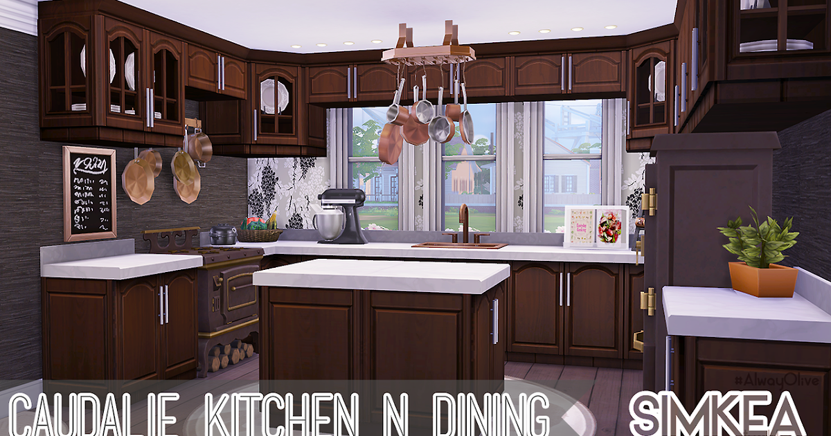 My sims 4 blog caudalie kitchen n dining by simkea for Sims 4 kitchen designs