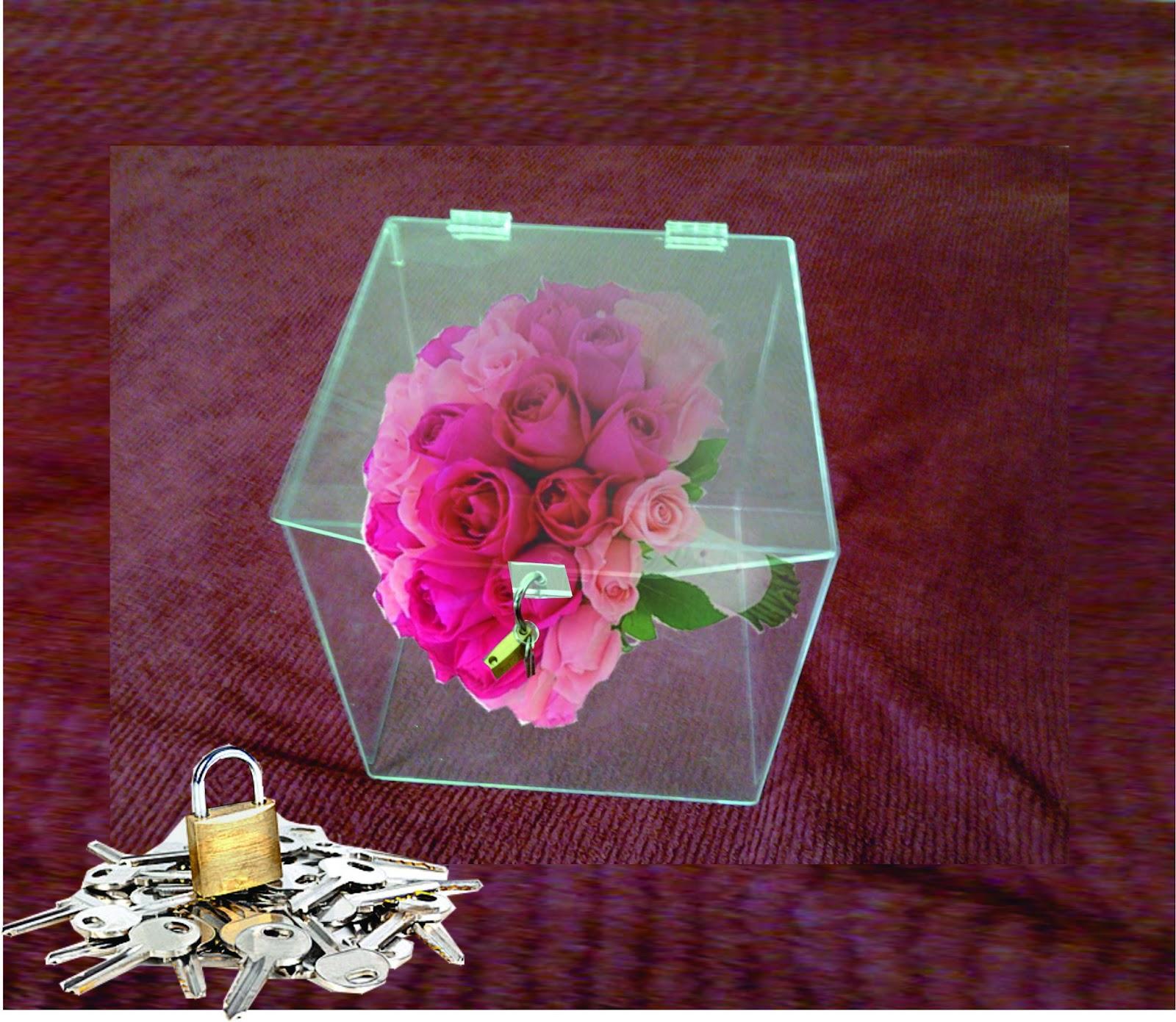 Mimos de Lady Fatô: Caixa de Acrílico para Bouquet de Noiva #A82368 1600x1391