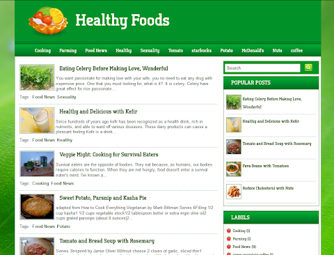 Healthy Food Blogger Theme