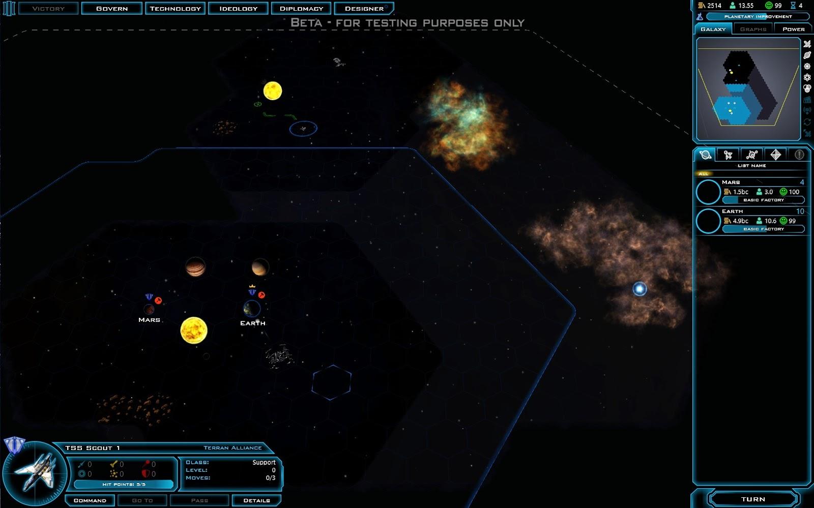 Galactic Civilization 3 Spielkarte