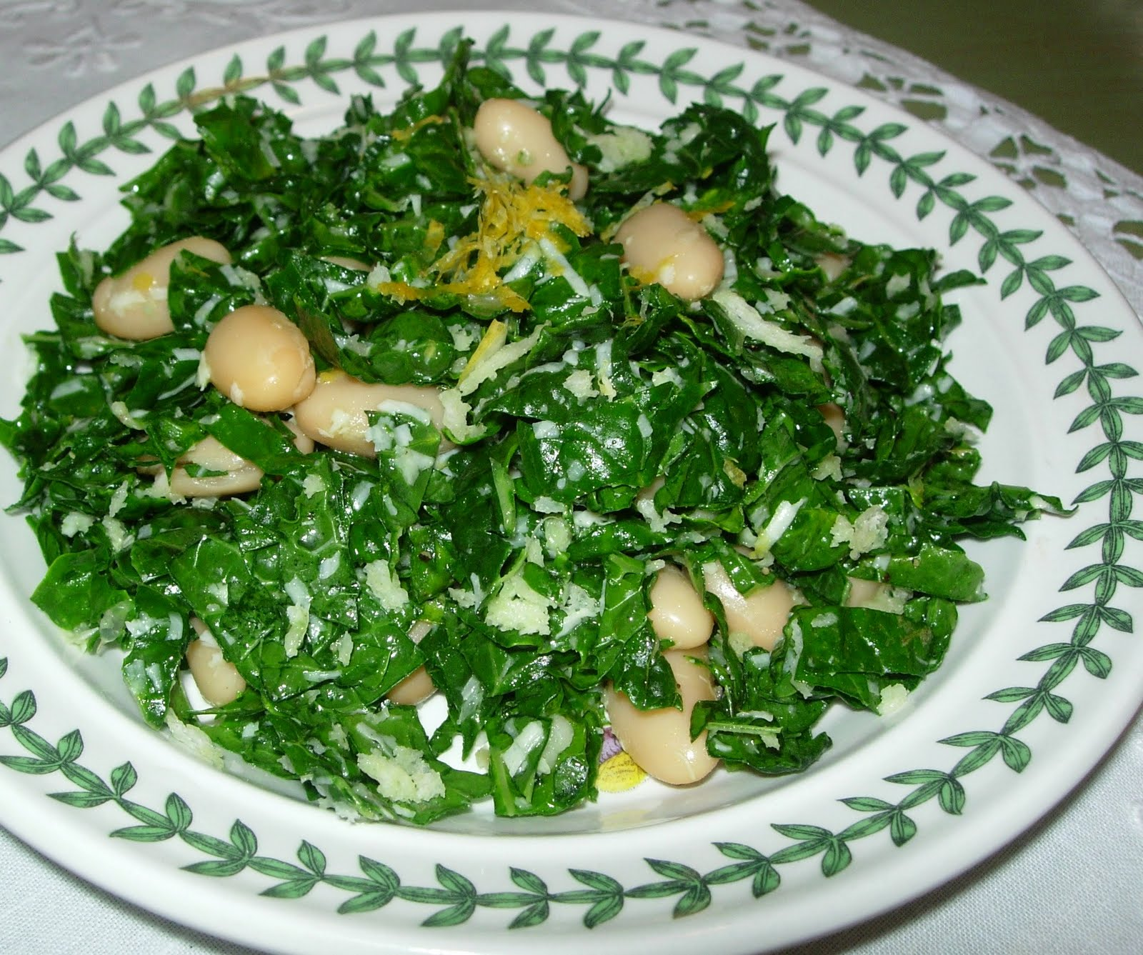 Table For Rue, Please: Tuscan Kale & Cannellini Bean Salad