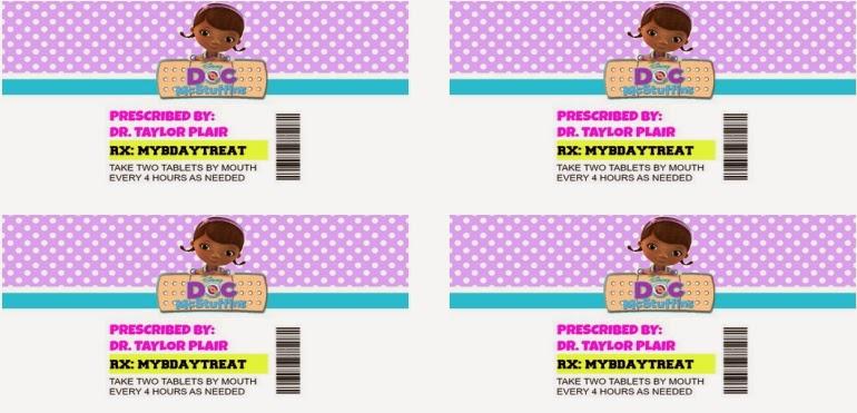 Doc Mcstuffins Printable Stickers Doc mcstuffins pill bottle