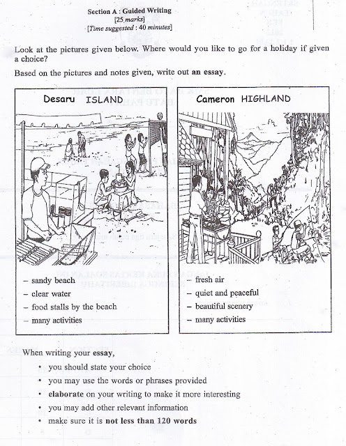 spm 2007 english paper 1 directed writing answers Cxc csec english a summary writing: sample exercises  these exercises can be used as practice for answering the summary question in paper 2 of the cxc csec english.