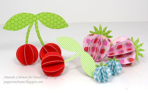 Popper and Mimi3D Paper Fruit in a Basket