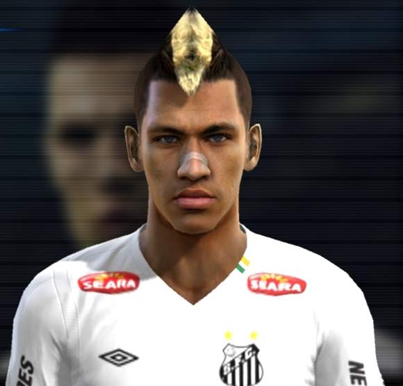 Neymar atacante do Santos F.C Face - PES 2012 by Joesitoh.