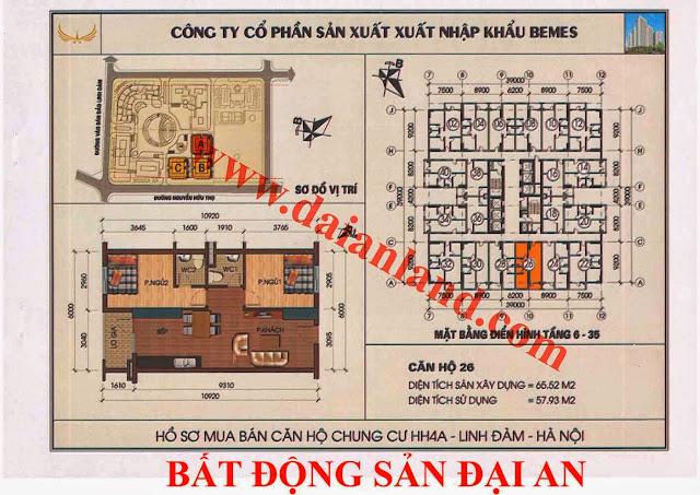 Căn hộ số 26 - Chung Cư HH4A Linh Đàm