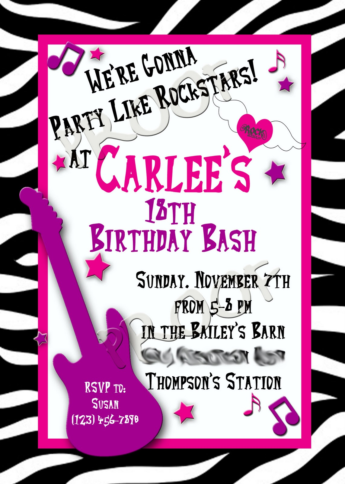 Fanci Prints by Tiffany RockStar Party Invitation – Rockstar Party Invites