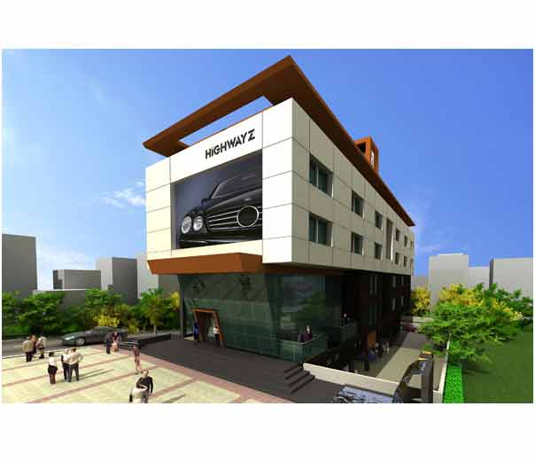Front Elevation Of Commercial Building : D front elevation commerical plaza