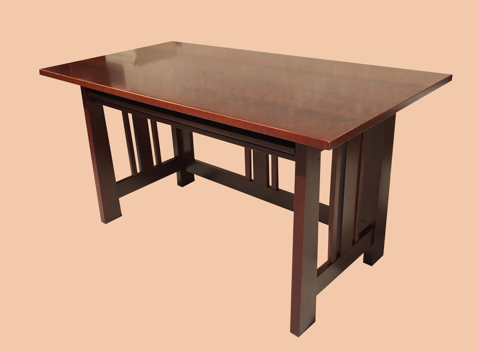 Uhuru furniture collectibles mission style desk with hutch 125 sold - Mission style computer desk with hutch ...