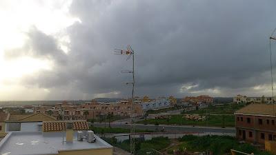 Nubes de lluvia en Gerena