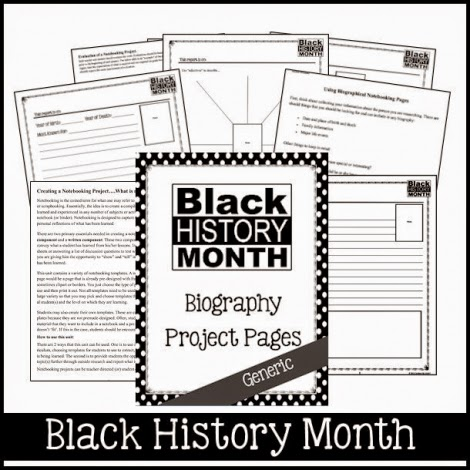 Black History Month Notebooking Pages