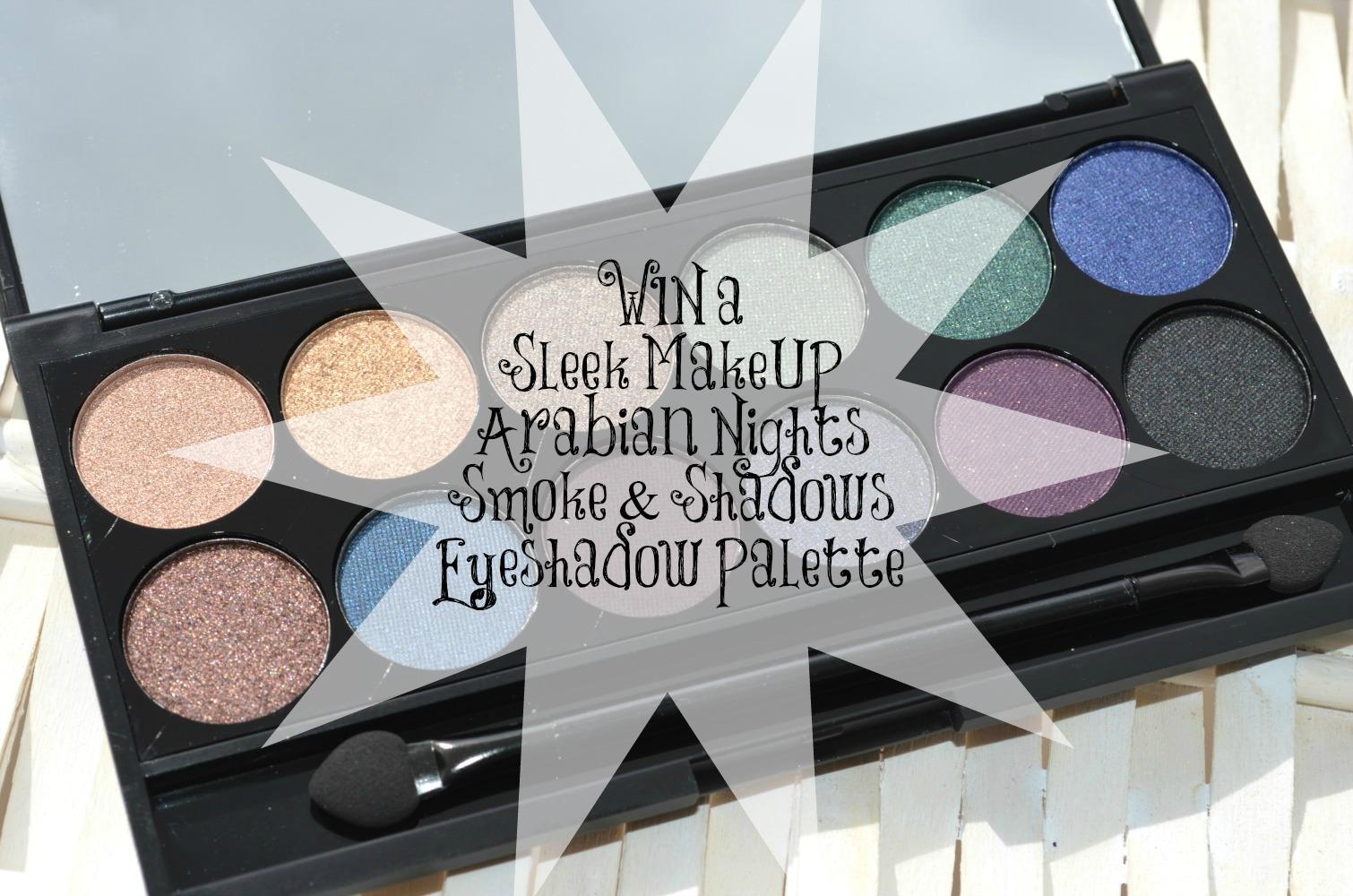 Sleek Arabian Nights Smoke & Shadows Eyeshadow Palette Review & GIVEAWAY!