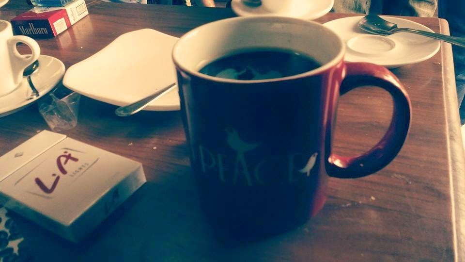 Peace Coffee... LA... woman