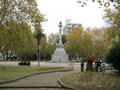 Independence square at durazno city Uruguay
