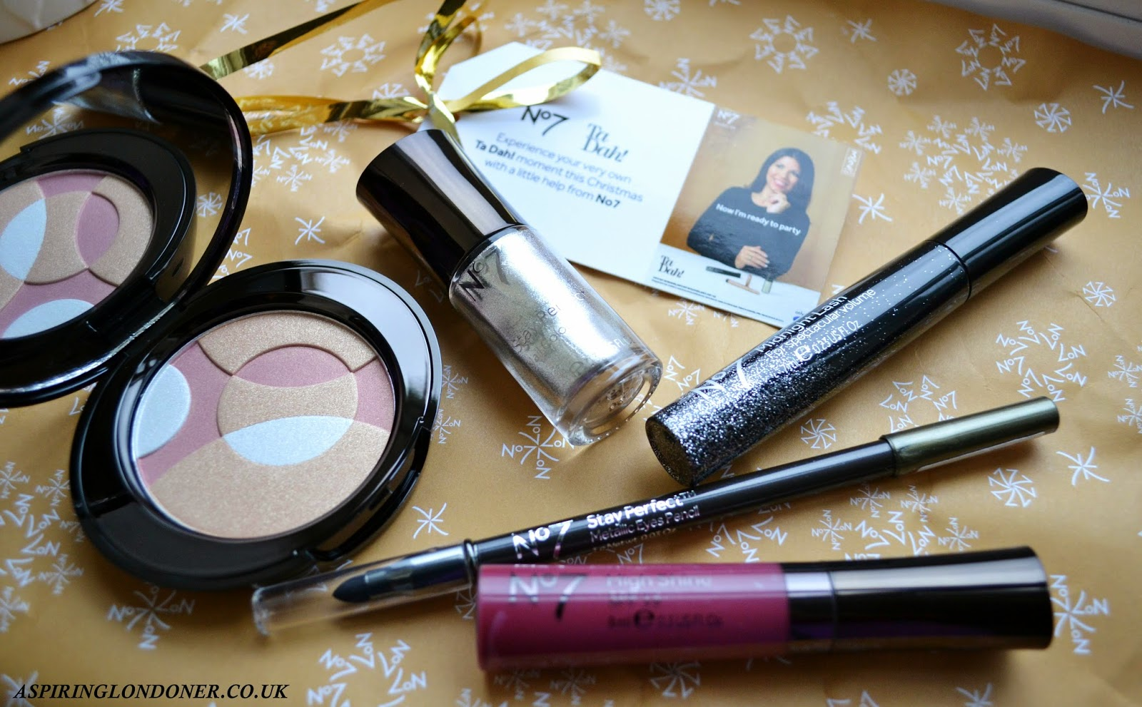 No7 Makeup Inspirations Get The Look Sensational Party Sparkle #TaDah - Aspiring Londoner